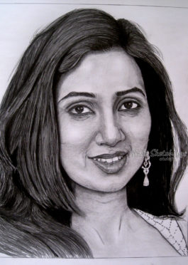 Shreya Ghoshal Sketch