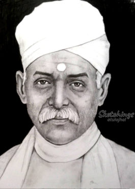 Madan Mohan Malaviya Pencil Sketch